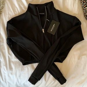 Pretty little thing cropped half zip